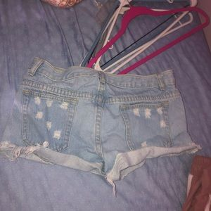 Pants - distressed ripped jeans short
